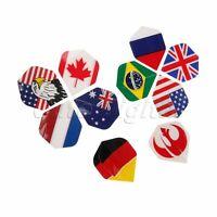 Professional Nice Darts Flight Standard Shape National Flag Pattern Design 30pcs