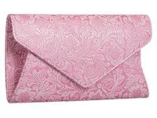 Nuevas damas Floral Rosa Bolso de Embrague Noche Cartera Hombro Bolso de mano Bolsos de mano