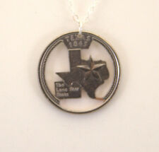 Texas State, Cut-Out Coin Jewelry, Necklace
