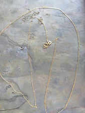 """10 KT Yellow Gold Cable Link Chain Necklace 20"""" Diamond Cut Thin/Fine Delicate"""