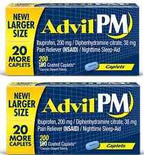 Advil PM 200 Caplets Ibuprofen 200 MG Pain Reliever Sleep Aid