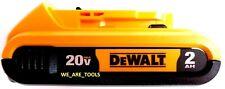 (1) New GENUINE Dewalt 20V DCB203 2.0 AH MAX Battery 20 Volt For Drill, Saw