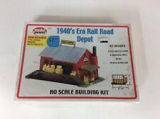 "Model Power #625 HO scale ""1940's Era Railroad Depot"" kit"