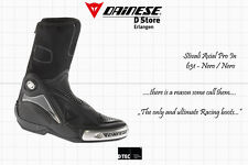 NEW DAINESE AXIAL PRO IN MOTOGP RACE BOOTS BLACK SIZE US 1.5 EU 46 - 300 mm