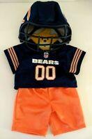 Build-A-Bear Chicago Bears 3 Piece Uniform Pants Jersey & Helmet Includes Hanger