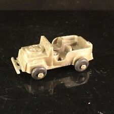 LIDO BRAND U.S. ARMY JEEP GREEN PLASTIC VTG TOY CAR - MADE IN THE USA RARE
