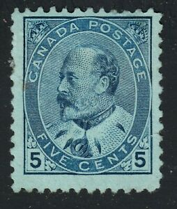 King Edward VII Scott's # 91 - 5 cent Blue - VF MH CV $250.00 US