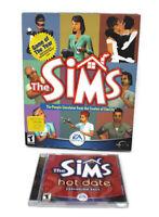 🔴 2000 The Sims Big Box PC Game Windows 95 98 CD-ROM EA Maxis Sims Hot Date