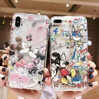 Cartoon Mickey Mouse Minnie Case for iPhone XS Max X 8 7 6 Soft TPU Lovers Cover