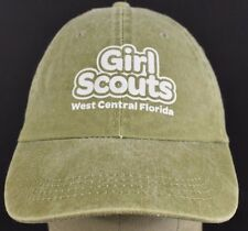 Green Girl Scouts West Coast FL embroidered baseball hat cap adjustable strap
