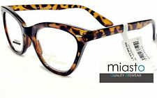 "~ LOT OF 2 ~ MIASTO CAT EYE READER READING GLASSES +1.50 ""Skeeter"" TORTOISE"
