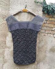 Ärmellose Damen-Pullunder mit Rundhals-Ausschnitt aus Wolle