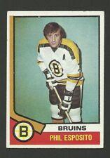 Phil Esposito Boston Bruins 1974-75 Topps Hockey Card #200 EX/MT