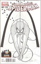 Amazing Spider-Man #1 Wizard World Atlanta Comic Con Sketch Cover  FREE S/H