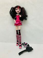 Monster High Doll Draculara First Wave? Pet Bat Pink Black Boots Clothing Etc