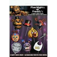 Five Nights at Freddy's 8 Photo Props Birthday Party Supplies New