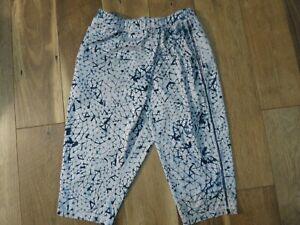 Lululemon Women's Blue Geometric Space Dye Wrap It Up Crop Pants Sz 6