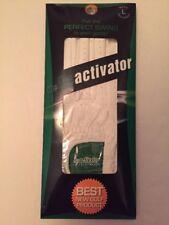 "NIP  The Deactivater ""Perfect Swing"" Golf Glove White Men's Lg Reg Right  NEW"