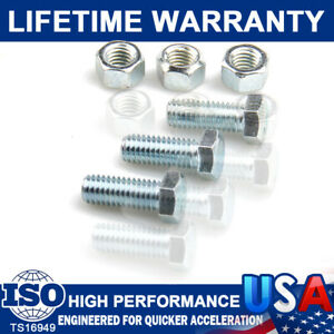 High Performance 3413 Header Collector Bolt Kit 6PC Set W/ Special Locking Nuts