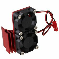 RC 1:10 Car Red N10108 Aluminum Alloy 540 550 Motor heatsink with 2 Cooling Fans