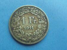 Switzerland, Franc 1911, (Silver) as shown.