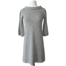 J. CREW COLLECTION Grey Cashmere Boat Neck Sweater Dress Size Extra Small XS