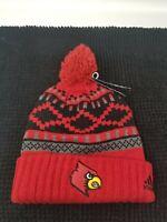 NWT Louisville Cardinals Adidas Cuffed Winter Knit Hat Cap Beanie  NEW!  1 Size