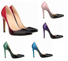 Fashion Women 11cm Anklet High Heels Stiletto Gradient Pointed Toe Pumps Shoes