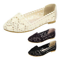 Sandals Casual shoes Womens Wedding Loafers Lace Elegant dolly Flats Size kala