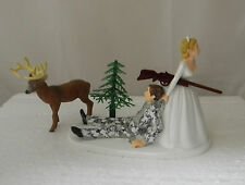 Wedding Reception ~Buck Deer~ Winter Camo Redneck  Hunter Hunting Cake Topper