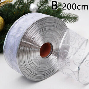 2M Mesh Ribbon Roll Gift Packaging Flower Wedding Christmas Party Decorations