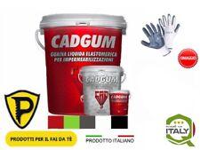 Guaina Liquida Impermeabilizzante 5 Colori Dispon 5 Kg CAD GUM + Guanti