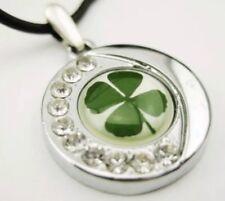 Lucky Irish celtic four leaf clover shamrock pendant. Free Post UK