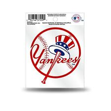 New York Yankees Logo Static Cling Auto Decal Car Sticker Small SS