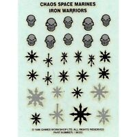 Chaos Space Marines Iron Warriors Transfer Sheet 1996 Games Workshop Warhammer