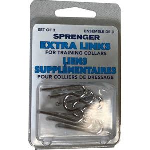 (3 Piece) Herm Sprenger Extra Links for Prong Training Collars | 3.25 MM | Chrom