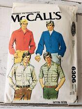 Vintage McCalls Pattern No.6306 Mens Shirt Pullover  Cut