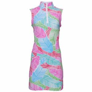 NWT Ladies IBKUL MARLEY MULTICOLORED Sleeveless Mock Golf Tennis Dress size XL
