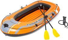 Bestway Kondor 3000 Inflatable Boat Set, Rubber raft 2.28m