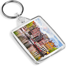Amsterdam Dancing Houses Keyring - IP02 - Landscape Colourful Gift #16600