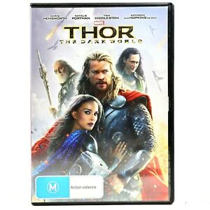Thor The Dark World Marvel Cinematic Chris Hemsworth DVD R4 Good Condition
