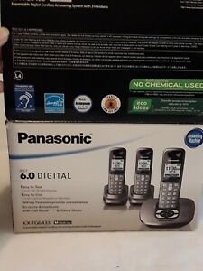 Panasonic KX-TG6433 Digital Cordless Phone & Answering Machine in Box READ Descr