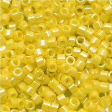 Miyuki Delica Seed Beads Size 11/0 Opaque Yellow AB 7.2g (DB160)