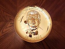 "The Hamilton Mint Commemorative Plate 24kt. E.G.P. on Pewter 9"" #1704"