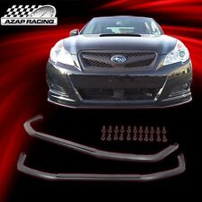 10-12 V Limited Style Front Bumper Lip Spoiler Black PU For Subaru Legacy 4Dr