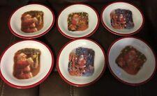 "(6) Pottery Barn Kids Christmas Santa Dining Plates 9"" Melamine"
