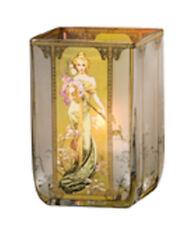 Goebel Artis Orbis Windlicht Frühling 1900 Teelicht Glas 10 cm von Alfonse Mucha