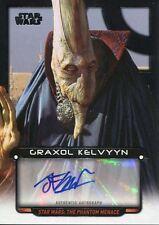 Star Wars Galactic Files Reborn Autograph Card John Coppinger as Graxol Kelvyyn