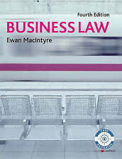 Business Law by Ewan MacIntyre Text Book, University, Student, Pearson,
