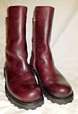 Fluevog Bing Boots Size 8/ 38.5 Burgundy Wine Mid-Calf Fits Size 8.5
